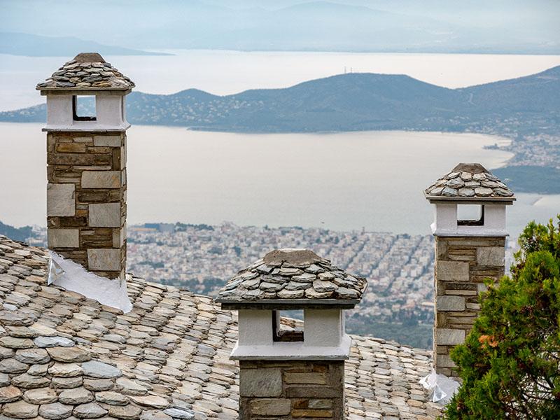 makrinitsa village volos view pelion